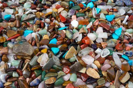 pebbles: Gems texture Stock Photo