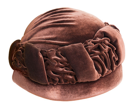 donne eleganti: Old fashion cappello femminile isolato su bianco Archivio Fotografico