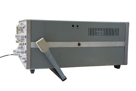 oscilloscope: Oscilloscope isolated on white