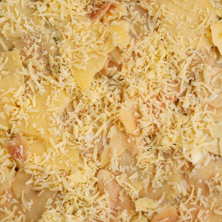 Texture of potato with cheese Stock Photo