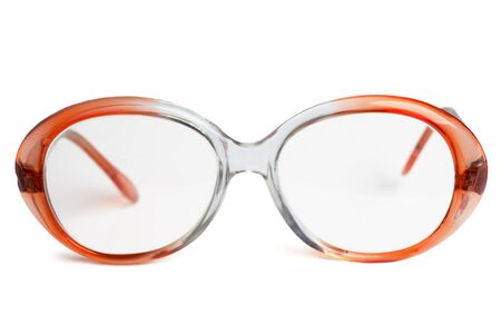 Vintage glasses isolated on white