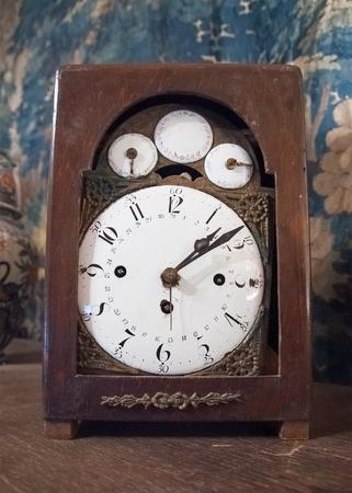 Ancient table clock Stock Photo