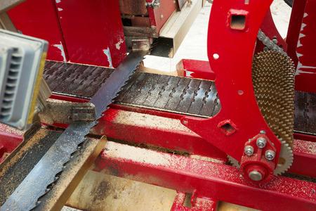 Modern industrial woodworking saw