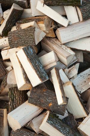Oak firewoods texture