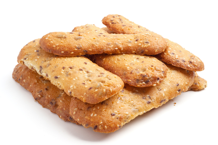 Handmade cookies isolated on white