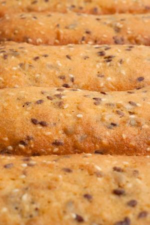 Handmade cookies background