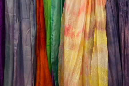 Silk samples texture Stock Photo
