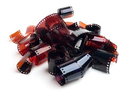 darkroom: Film strips isolated on white