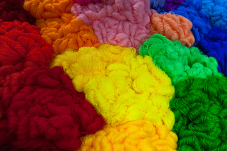 Multicolored threads texture