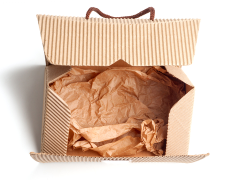Bag (box) made of corrugated cardboard