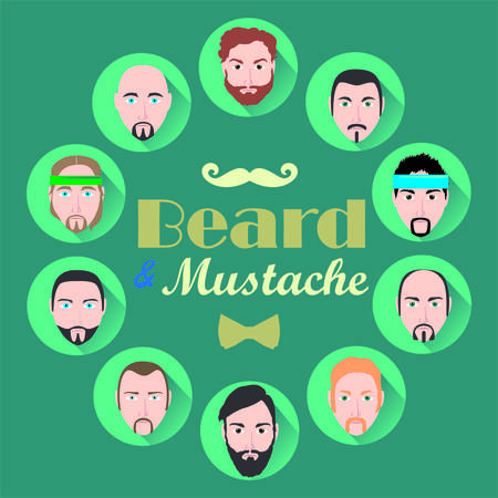 haircuts: Options haircuts beard and mustache . It can be used for parikamerskih and Barber shops .