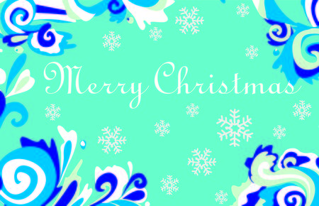 frosty: Christmas card with frosty patterns. For Christmas decoration or greeting card.
