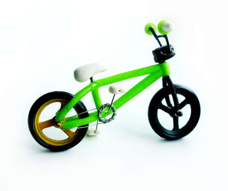 uno: Bicycle figurine handmade from polymer clay. Bmx style
