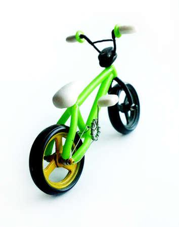numero: Bicycle figurine handmade from polymer clay. Bmx style