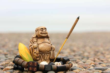budda: India incense sticks with budda figurine flower