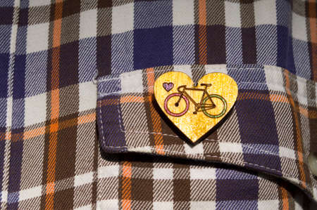 beautiful brooch bicycle handmade jewelry in wood