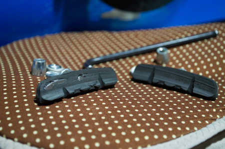 lug: worn brake pads for bicycle in the worksop