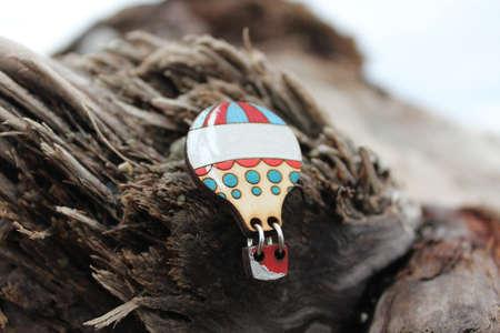 genteel: beautiful wooden brooch handmade jewelry in wood