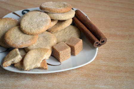 serbia xmas: Handmade cookies in a nice plate Stock Photo