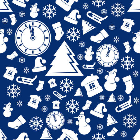 Christmas seamless pattern  New Year vector background  Vector