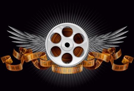 フィルム リール、EPS 10 ファイルがレイヤー