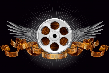 film reel: Film reel, EPS 10, file has layers