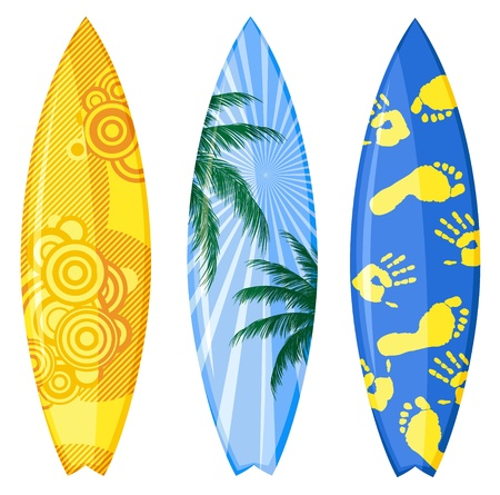 Surfboards isolated on white