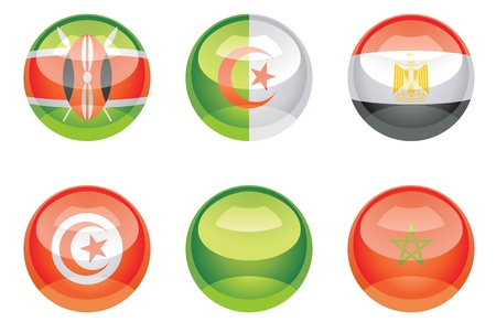 """Extra glossy vector """"Flag buttons"""", nation flag icons, EPS 10 Stock Vector - 20194171"""