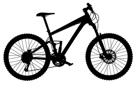 carbone: silhouette de suspension compl�te VTT Illustration