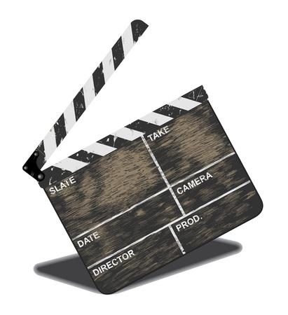 often: Old movie clapper, often in use. Vector illustration, EPS 10