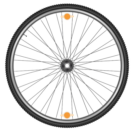 ring road: Wheel of bicycle, EPS 10 Illustration