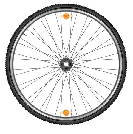 Wheel of bicycle, EPS 10 Stock Vector - 20189346