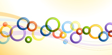 speach: Background with transparent colorful circles, contains transparency