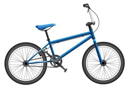 bmx: Elaborate illustration of BMX bike, contains transparency