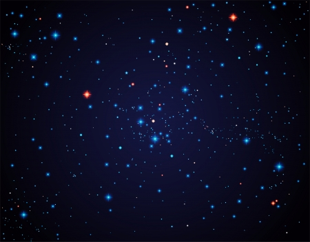 Starry sky, contains transparency  Illustration