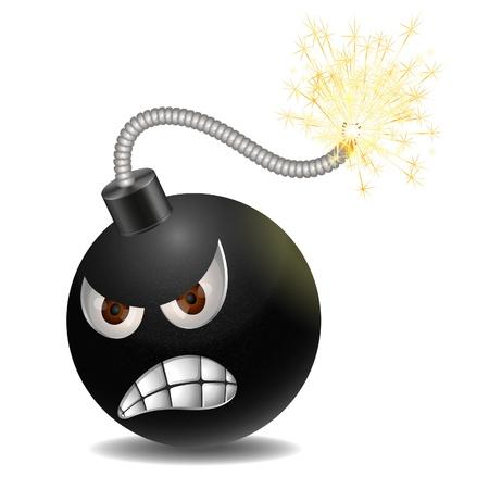 Evil bomb Illustration