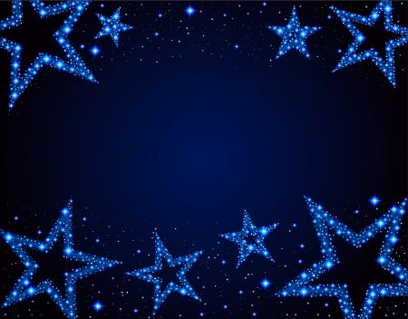 Starry background Ilustracja