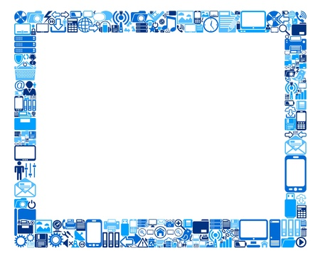 Abstract tablet pc, made out of web icons Illustration