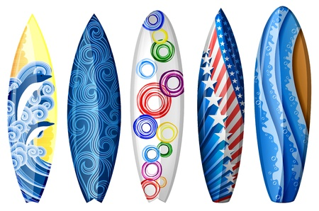 Set of surfboards