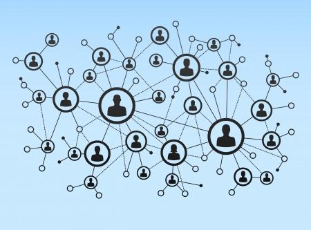 Netwerkverbinding Stock Illustratie