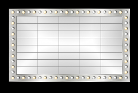 marquee: Marquee banner, with realistic metallic texture Illustration