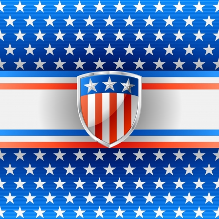 Patriotic background with shield Stock Vector - 20241425