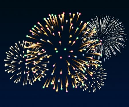 Illustration of fireworks Ilustracja