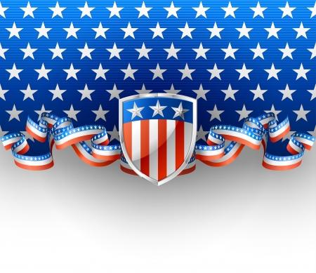 voter: Fond patriotique avec le bouclier