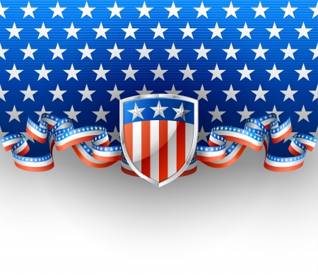 patriotic usa: Patriotic background with shield