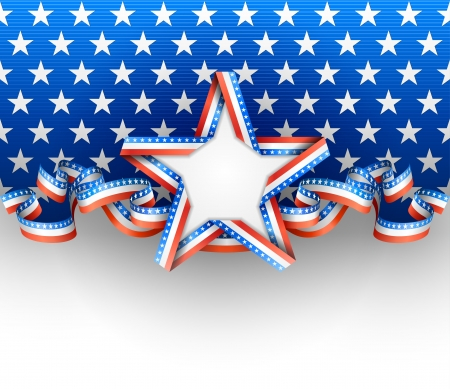 Patriotic background with star Ilustracja