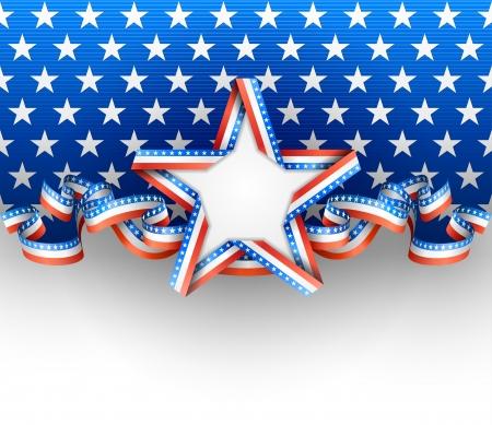 Patriotic background with star Stock Illustratie