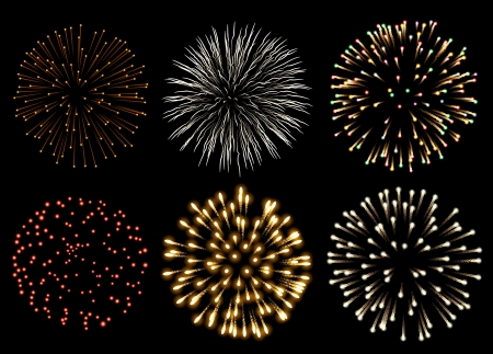 Set of fireworks Stock Vector - 20241408