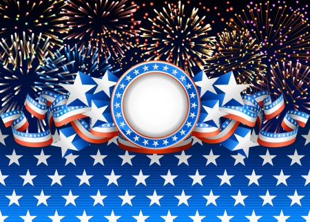 Pattic background with fireworks Stock Vector - 20241407
