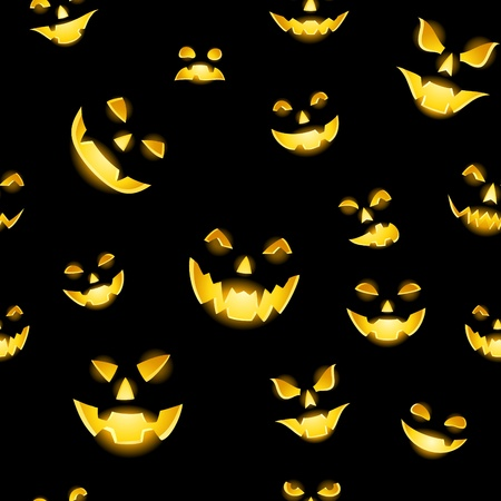 ghastly: Seamless texture with Jack-o-Lanterns